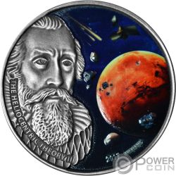 HELIOCENTRIC THEORY II Johannes Kepler 1 Oz Silver Coin 1000 Francs Burkina Faso 2017