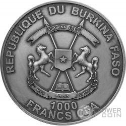 HELIOCENTRIC THEORY II Johannes Kepler 1 Oz Серебро Монета 1000 Франков Буркина-Фасо 2017