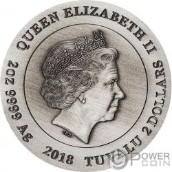 PHOENIX Phönix 2 Oz Silber Münze 2$ Tuvalu 2018