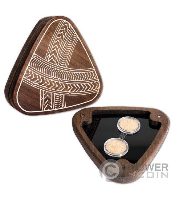 MAUI AND THE SUN Tama Nui Te Ra Set 2 Gold Coins 10$ New Zealand 2018