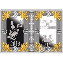 ROTHSCHILD PRAYERBOOK Libro Horas Moneda Plata 1000 Francos Cameroon 2018