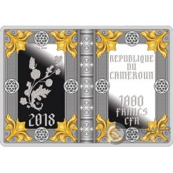 ROTHSCHILD PRAYERBOOK Libro Ore Rotschild Moneta Argento 1000 Franchi Cameroon 2018