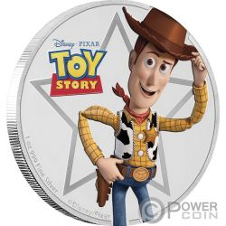 WOODY Toy Story Disney 1 Oz Silver Coin 2$ Niue 2018
