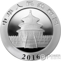 MAO ZEDONG Panda Cino Moneda Plata 10 Yuan China 2016
