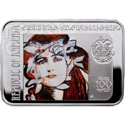 AXENTOWICZ Teodor Painter Silver Coin 100D Armenia 2010