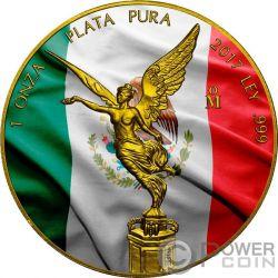 PATRIOTIC FLAG Bandiera Patriottica Libertad Liberta 1 Oz Moneta Argento Mexico 2017