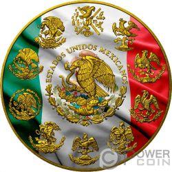 PATRIOTIC FLAG Bandera Patrioctica Libertad 1 Oz Moneda Plata Mexico 2017