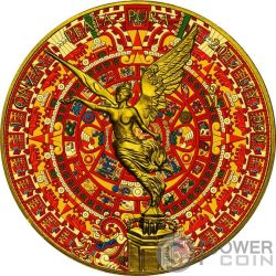 AZTEC CALENDAR Calendario Azteca Libertad 1 Oz Moneda Plata Mexico 2017