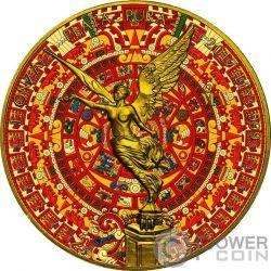 AZTEC CALENDAR Calendario Azteca Libertad Liberta 1 Oz Moneta Argento Mexico 2017