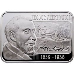 AXENTOWICZ Teodor Painter Moneda Plata 100D Armenia 2010