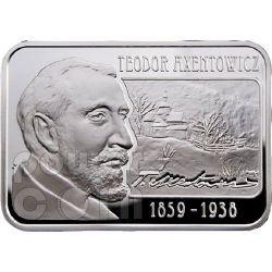 AXENTOWICZ Teodor Painter Moneda Plata 100D Armenia 2010