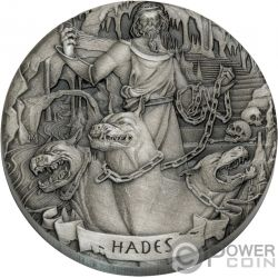 HADES Gods of Olympus 2 Oz Silver Coins 2$ Cook Islands 2017