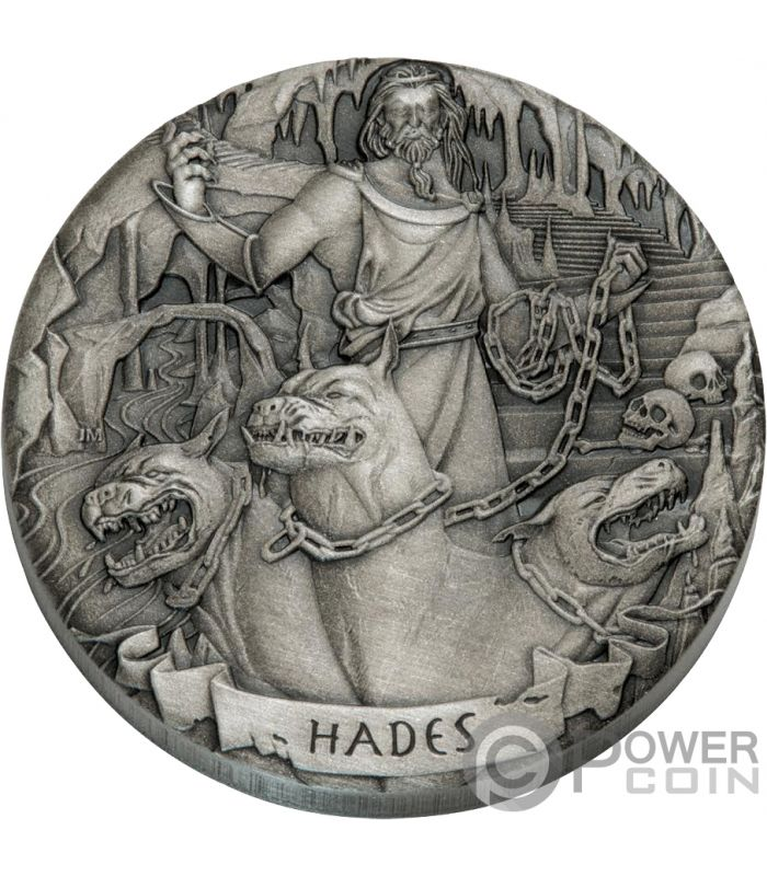 Hades Gods Of Olympus 2 Oz Silver Coins 2 Cook Islands