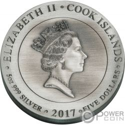 GODS OF OLYMPUS 5 Oz Silver Coins 5$ Cook Islands 2017