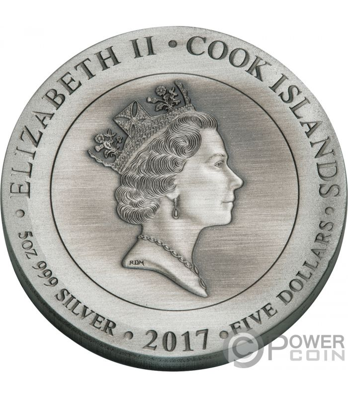 Gods Of Olympus 5 Oz Silver Coins 5 Cook Islands 2017