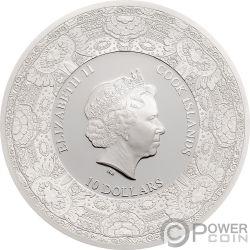 LAND OF WATER Windmill Royal Delft Серебро Монета 10$ Острова Кука 2018