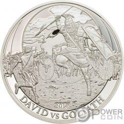 DAVID VS GOLIATH David Goliat Biblical Stories Moneda Plata 2$ Palau 2017
