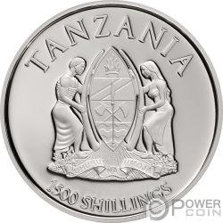 CHIMERA Quimera Mythological Animals 2 Oz Moneda Plata 1500 Shillings Tanzania 2018