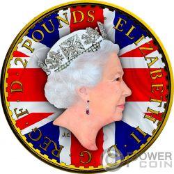 PATRIOTIC FLAG Bandera Patrioctica Britannia 1 Oz Moneda Plata 2£ Pound United Kingdom 2017