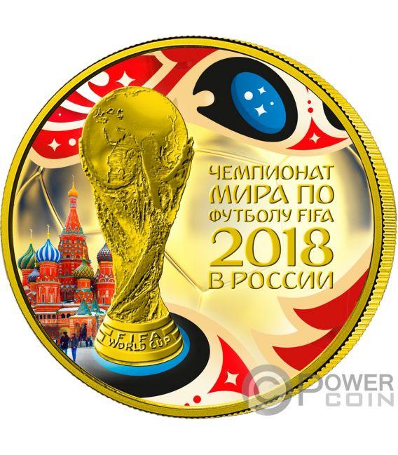 FIFA WORLD CUP 1 Oz Silver Coin 3 Rubles Russia 2018