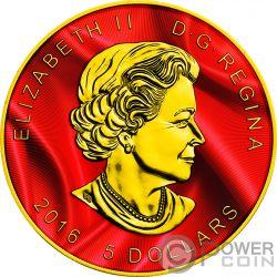 SUPERMAN Maple Leaf Colorized 1 Oz Серебро Монета 5$ Канада 2016