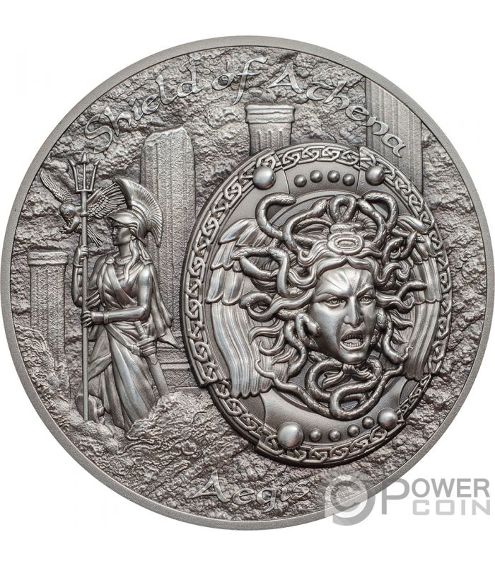 Shield Of Athena Escudo Atenea Egida Aegis Mythology 2 Oz