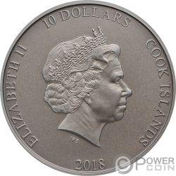 SHIELD OF ATHENA Schild der Athene Aegis Mythology 2 Oz Silber Münzen 10$ Cook Islands 2018