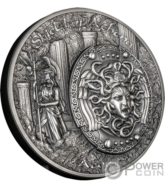 Shield Of Athena Aegis Mythology 2 Oz Silver Coins 10