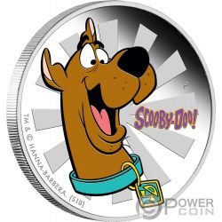 SCOOBY DOO Dog Cartoon 1 Oz Silver Coin 1$ Tuvalu 2018