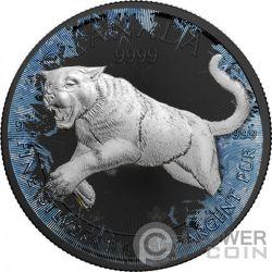 COUGAR Puma Deep Frozen Edition 1 Oz Moneda Plata 5$ Canada 2016