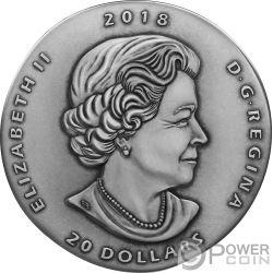 GORGOSAURUS Ancient 1 Oz Silver Coin 20$ Canada 2018