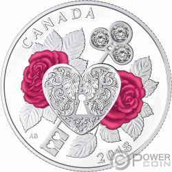 CELEBRATION OF LOVE Corazon Amor Moneda Plata 3$ Canada 2018