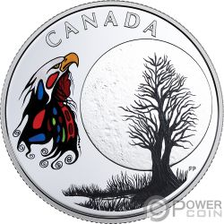 SPIRIT MOON Teachings From Grandmother Silver Coin 3$ Canada 2018