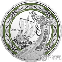 NORTHERN FURY Furia Nord Norse Figureheads 1 Oz Moneta Argento 20$ Canada 2018