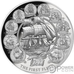 FIRST FLEET 230. Jahrestag 2 Oz Silber Münze 5$ Niue 2018
