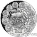 FIRST FLEET 230th Anniversary 2 Oz Silver Coin 5$ Niue 2018