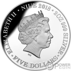 FIRST FLEET 230th Anniversary 2 Oz Silver Coin 5$ Niue 2018