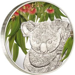KOALA Profumo Eucalipto Moneta Argento 5$ Cook Islands 2011