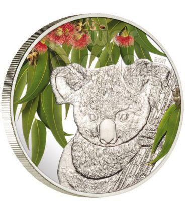 KOALA Eucalyptus Scent Of Australia Coin 5$ Cook Islands 2011