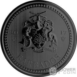 TRIDENT Dreizack Golden Enigma 1 Oz Silber Münze 1$ Barbados 2017