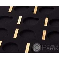 WOODEN CASE Box Cofanetto Legno Queen Beasts Series 1 Oz Display 10 Monete Oro Espositore