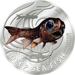 LANTERNA Pesce Degli Abissi Moneta Argento 2$ Pitcairn Islands 2010