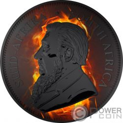 KRUGERRAND Burning Ruthenium 1 Oz Серебро Монета 1 Ренд Южная Африка 2017