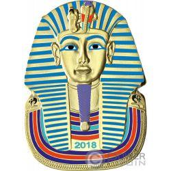 TUTANKHAMUN Tutankhamon Forma 1 Oz Moneta Placcata Oro 2 Cedis Ghana 2018