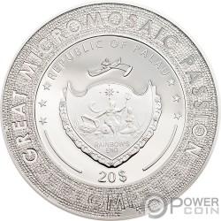 BIRTH OF VENUS Боттичелли Великолепная Микромозайка Страсть 3 Oz Серебро Монета 20$ Палау 2017