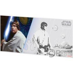 LUKE SKYWALKER Star Wars New Hope Foil Silver Note 1$ Niue 2018