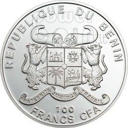 ALBERO DI NATALE Abete Moneta Profumata 100 Franchi Benin 2010