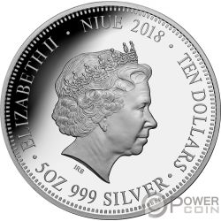 GREAT BARRIER REEF Australias Natural Wonder 5 Oz Серебро Монета 10$ Ниуэ 2018
