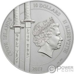 YI SOON SHIN Sun Sin 2 Oz Moneda Plata 10$ Cook Islands 2017