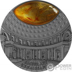 RENAISSANCE Amber Art 2 Oz Серебро Монета 5$ Ниуэ 2017